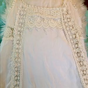 White lacy summer dress